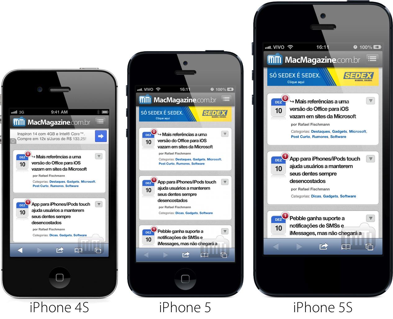iPhone 5S com 4,8 polegadas