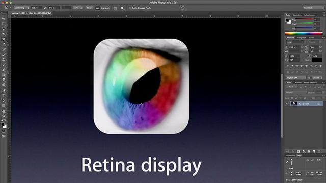 Adobe Photoshop com suporte a Retina