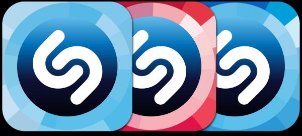 Ícones dos apps Shazam