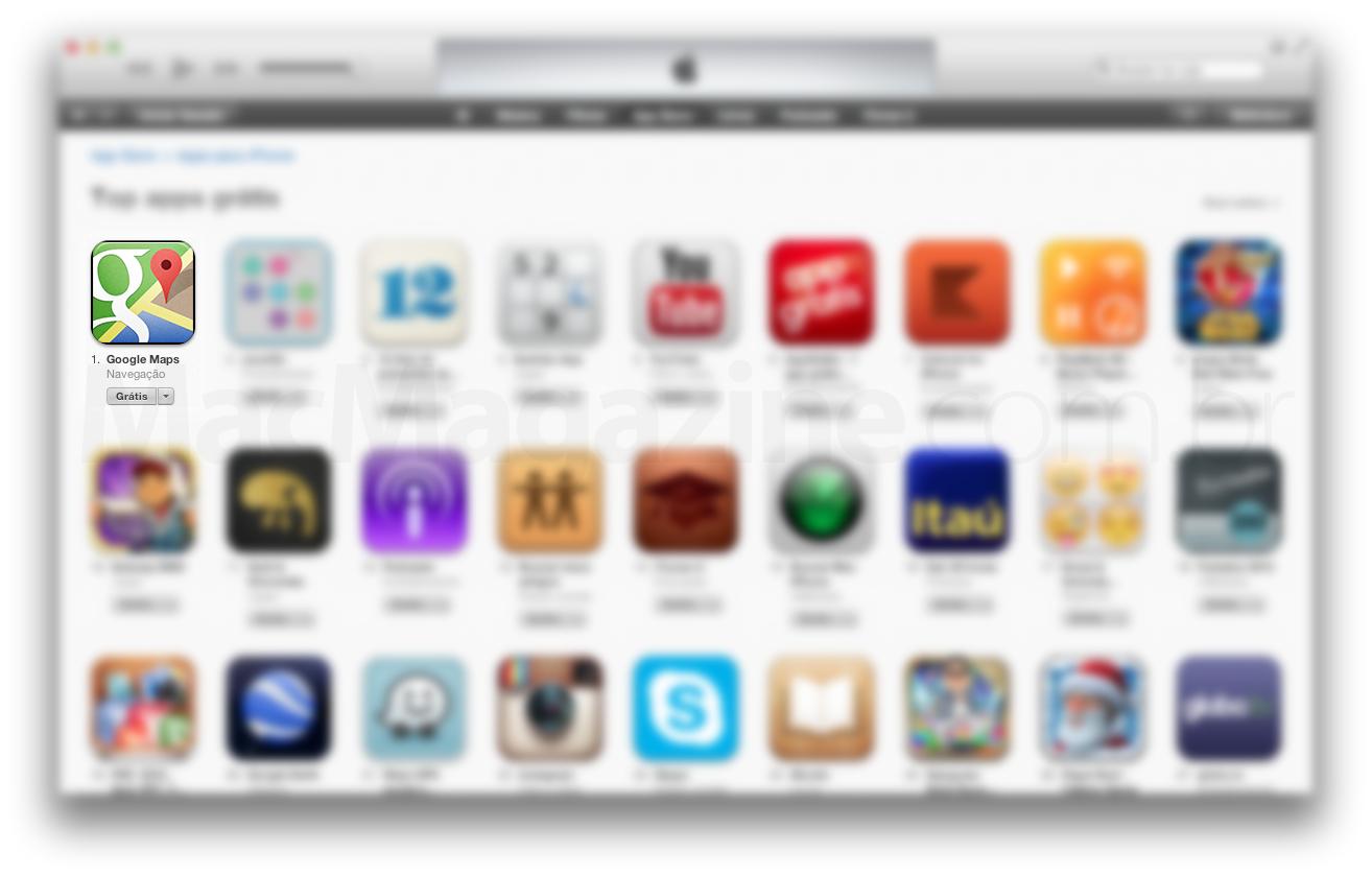 Google Maps em primeiro lugar no ranking dos mais baixados da App Store