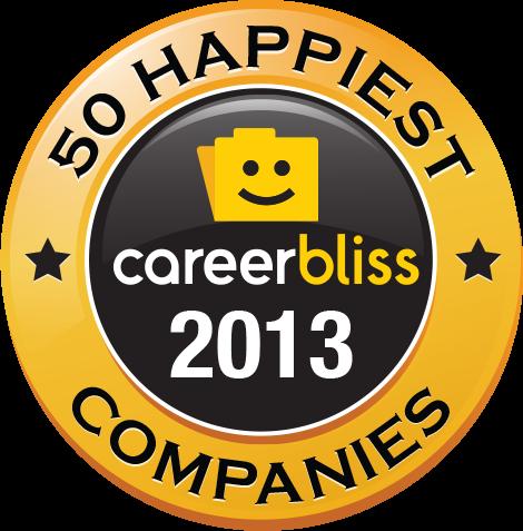 Logo do ranking da CareerBliss - 2013
