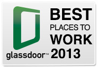 Logo do ranking da Glassdoor - 2013