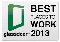 Logo do ranking da Glassdoor - 2013