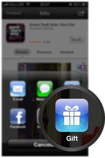 Presentear no iOS 6