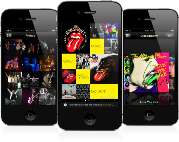The Rolling Stones Official App (iPhone)