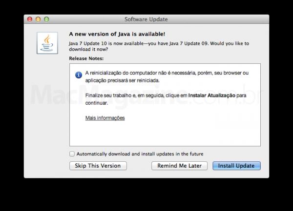 Atualização 10 do Java