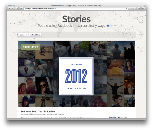 Facebook em 2012