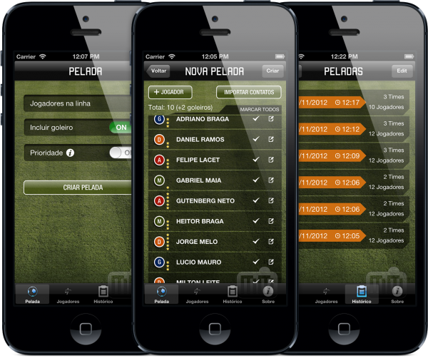 Pelada Maker - iPhones