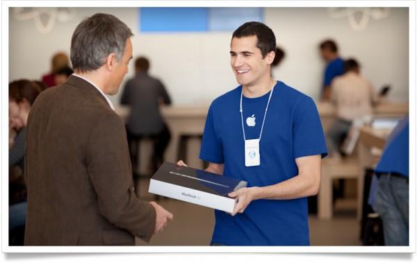 Empregado de uma Apple Store