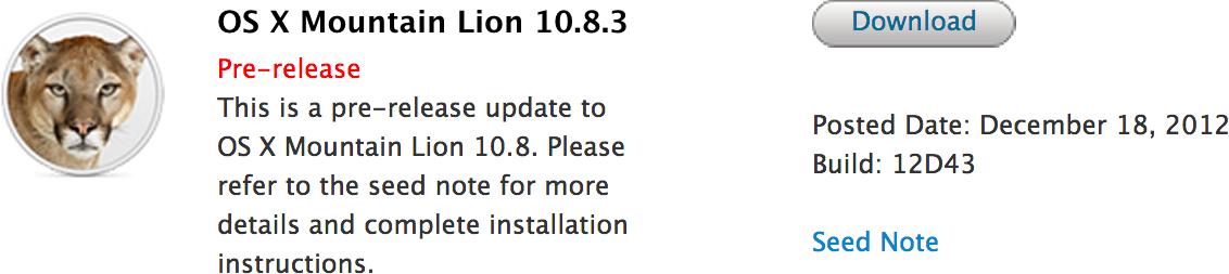 Build do OS X 10.8.3