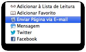 Enviando uma página pelo Mail (OS X)