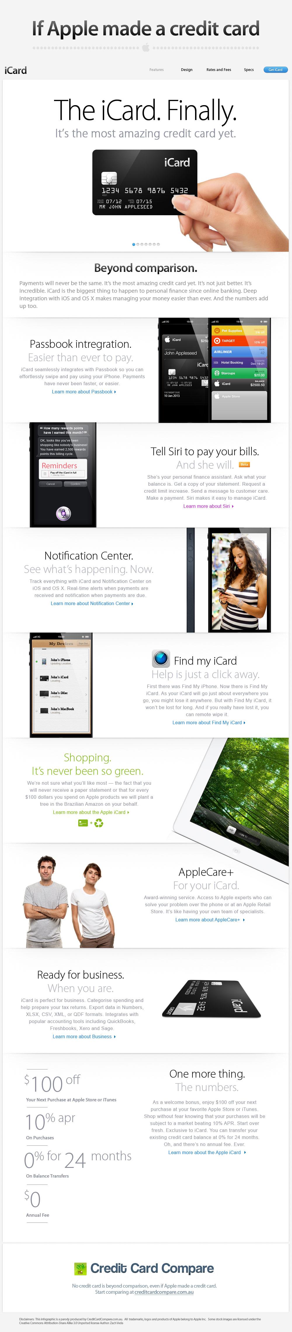 iCard - o cartão de crédito da Apple