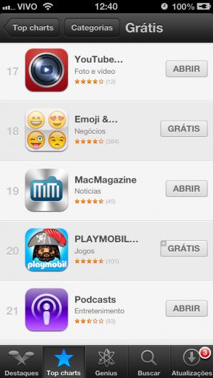 Downloads do app do MacMagazine
