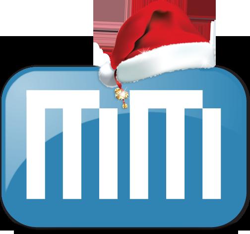Logo MacMagazine com gorro de Natal
