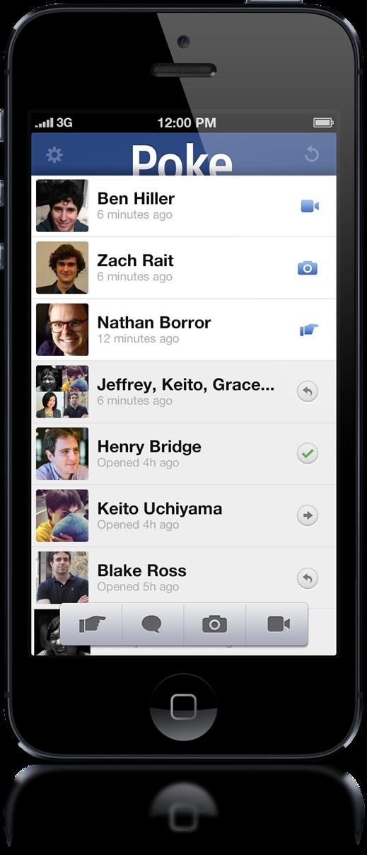 Facebook Poke - iPhone