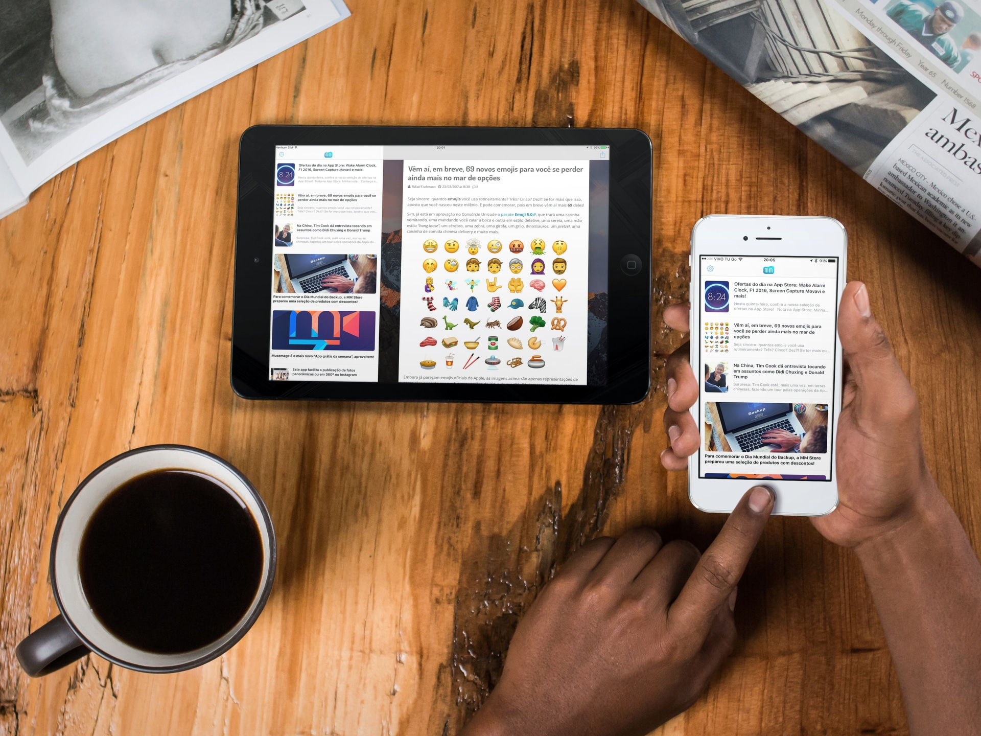 App MacMagazine 3.1 para iPad e iPhone