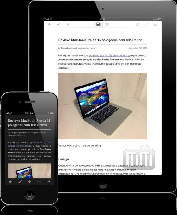Leitura no Pocket (iPhone e iPad)