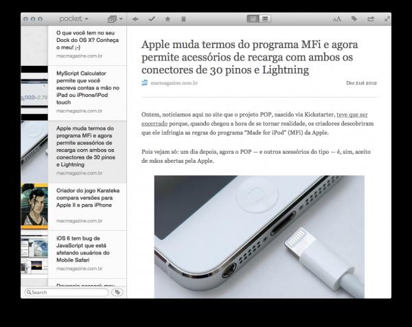 Pocket para Mac
