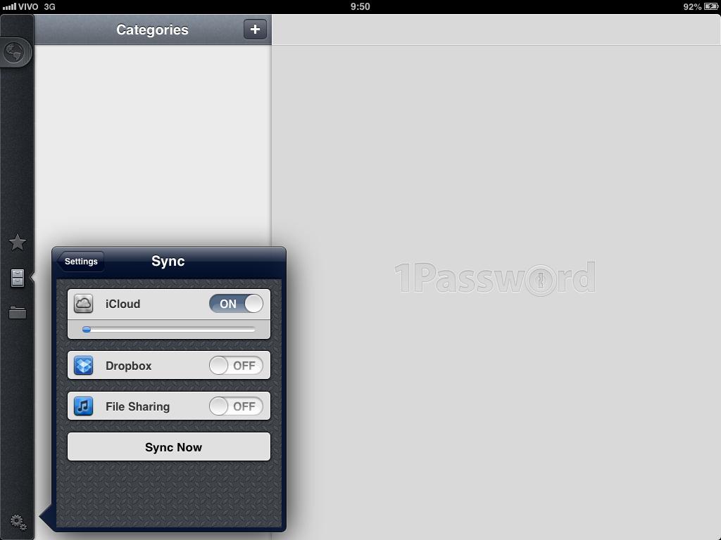 1Password iPad