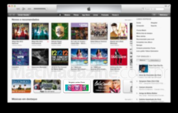 Banner de resgatar cartões iTunes