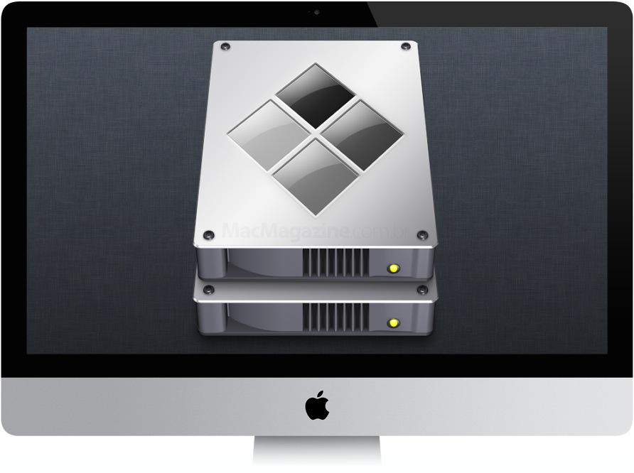 iMac com ícone do Boot Camp
