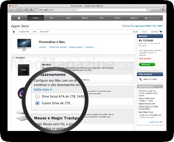 Fusion Drive no iMac mais básico de 21,5 polegadas