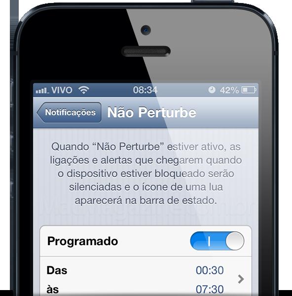 Não Perturbe no iPhone 5