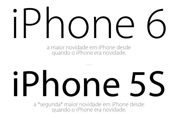 iPhones 6 e 5S