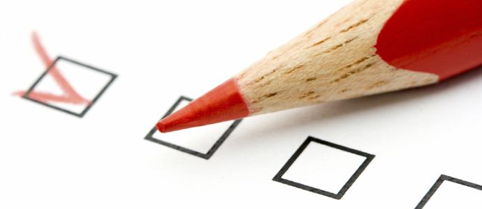 Lápis com questionário