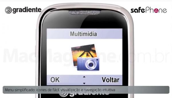 Ícone do iPhoto em celular da Gradiente