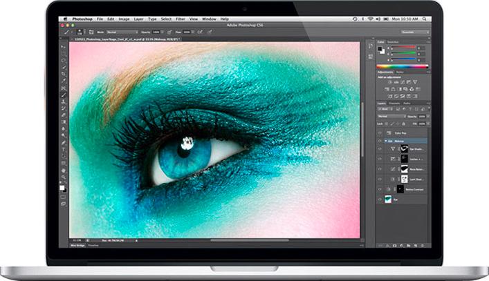 MacBook Pro com olho processado