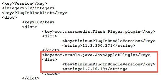 Java 7 na lista negra do OS X