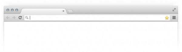 Janela vazia do Google Chrome Beta