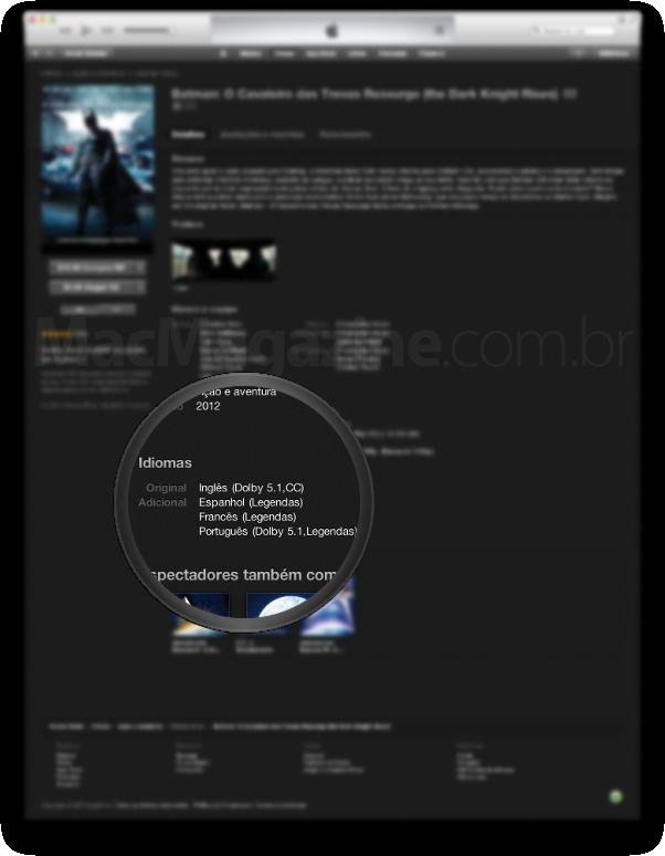 Batman na iTunes Store