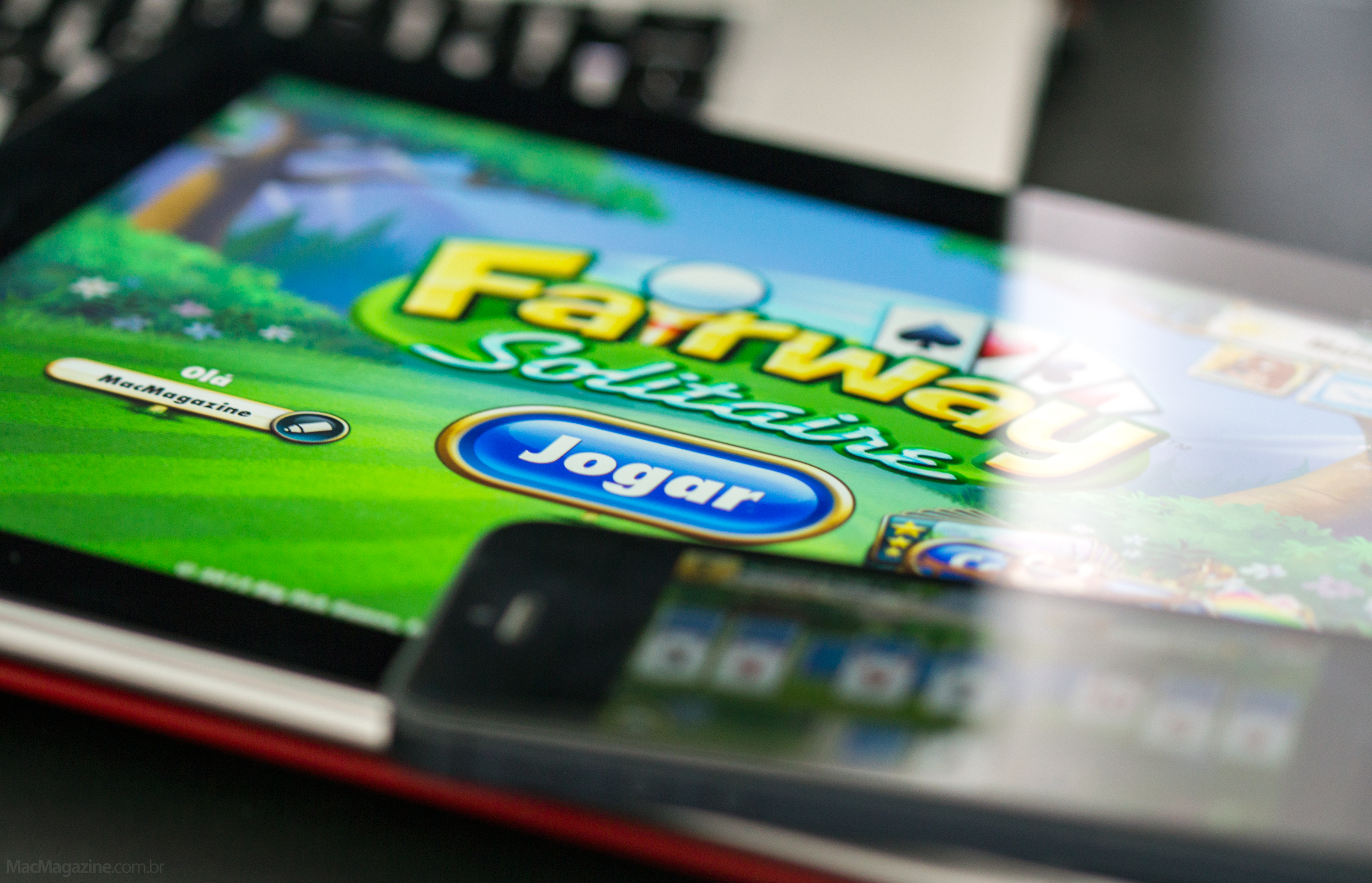 Jogo Fairway Solitaire no iPad e iPhone (by MacMagazine)