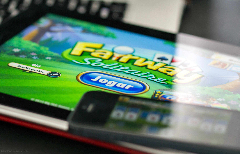 Jogo Fairway Solitaire no iPad e iPhone (by MacMagazine)