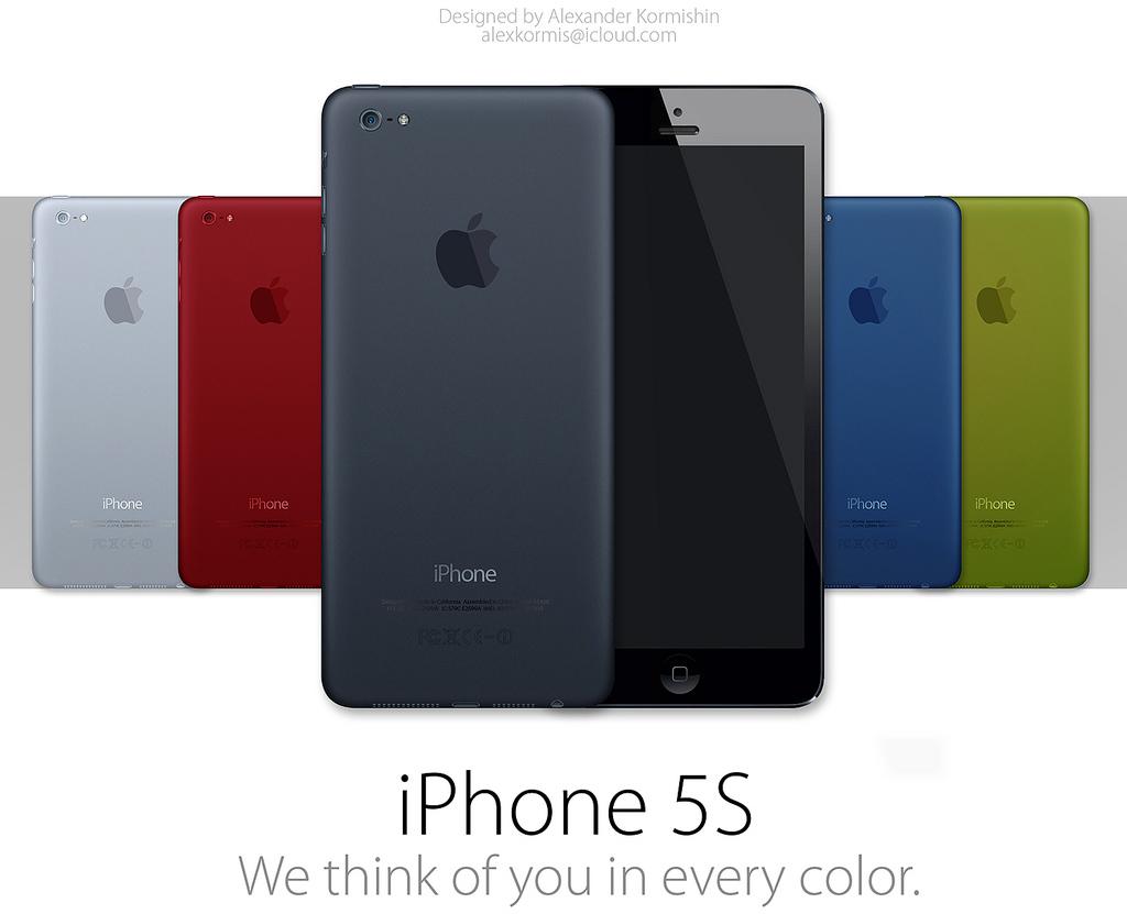 Mockup de iPhones 5S coloridos
