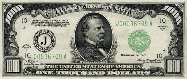 Nota de 1.000 dólares