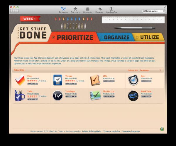 "Promoção ""Get Stuff Done"", da Apple"