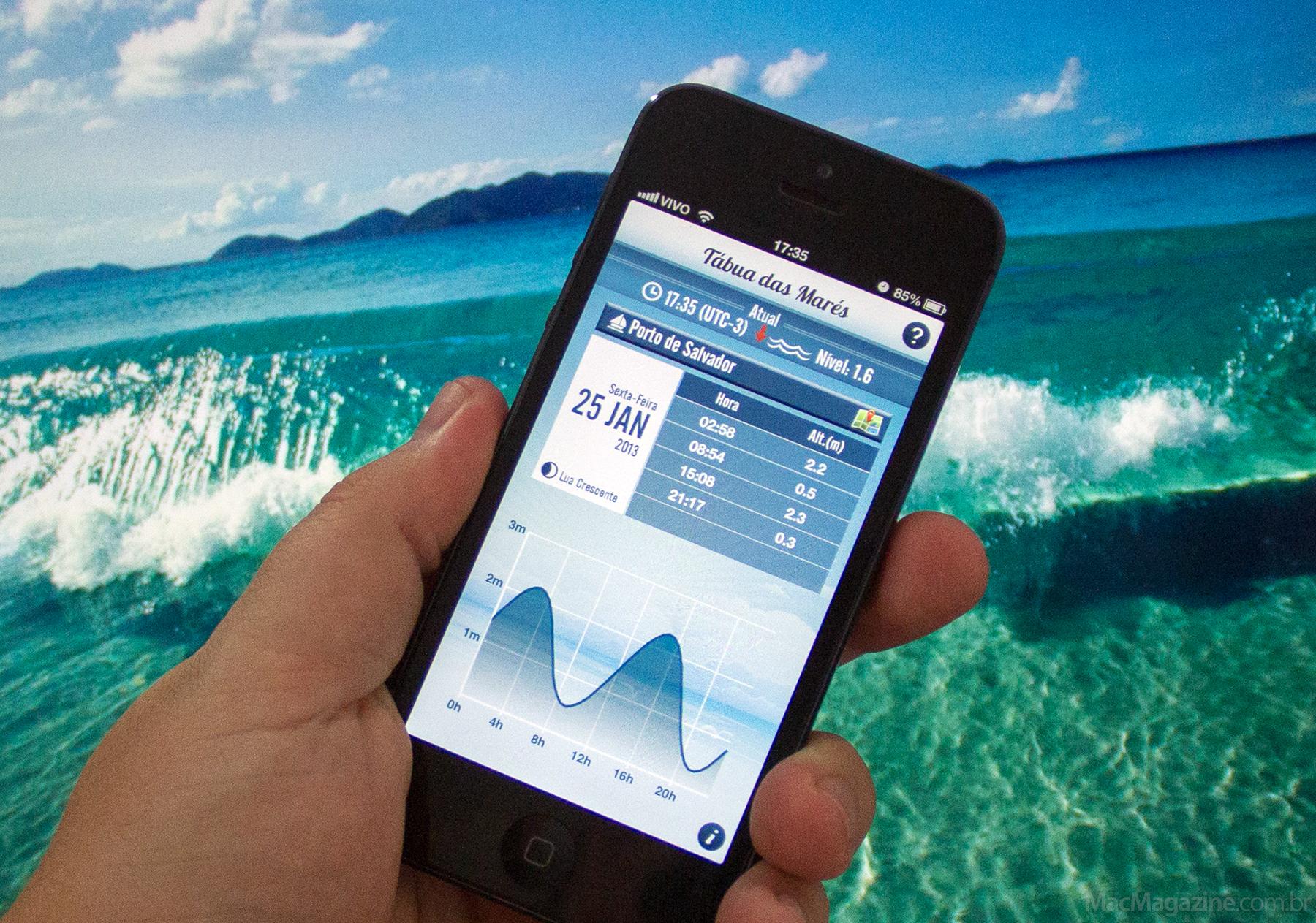 Tábua das Marés no iPhone