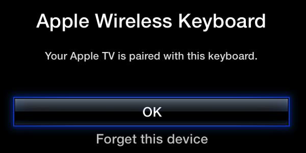 Emparelhando Apple TV com Apple Wireless Keyboard