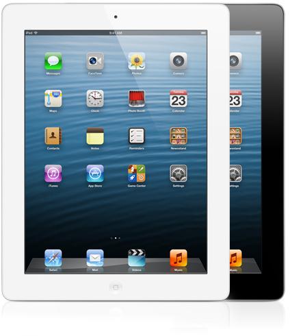 iPads de quarta geração de frente