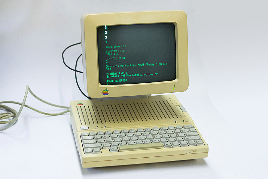 Apple IIc à venda no eBay