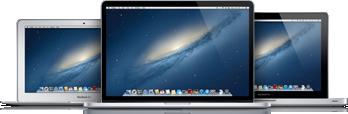 Linha de MacBooks, incluindo Air e Pro