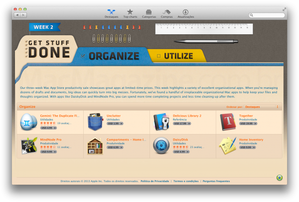 Promoção de apps na Mac App Store