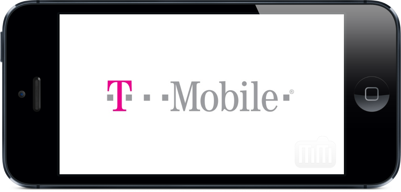 Logo da T-Mobile em iPhone 5