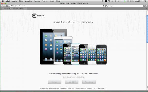 Evasi0n site - screenshot