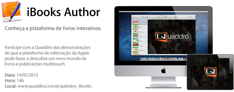 Quaddro - palestra sobre iBooks Author
