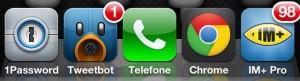 Screenshot do tweak Five Icon Dock