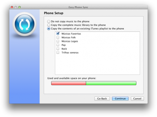 Easy Phone Sync no Mac